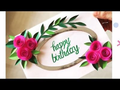 Birthday Greeting Card   Handmade Greeting Card   Birthday card Making