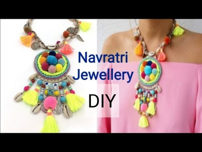 DIY- Easy handmade Navratri jewellery designs.ideas. diy navratri.garba special jewellry.ornaments