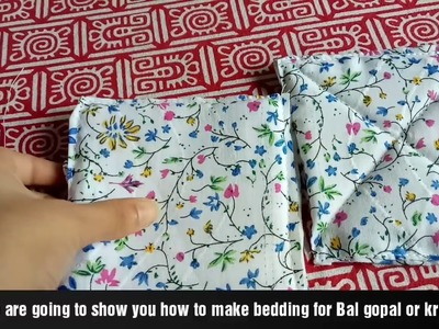DIY.How to make simple bedding.mattress for laddu gopal.कैसे बनाये गद्दा लड्डू गोपाल के लिये.  l