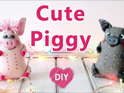 DIY. How to sew a cute toy PIGGY.