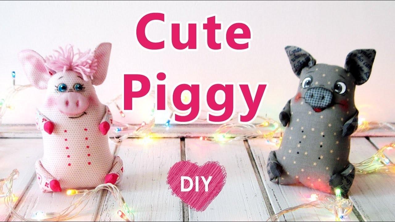 DIY. How to sew a cute toy PIGGY.