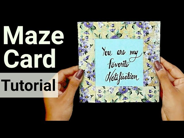 DIY Maze Card Tutorial | Handmade Card Ideas |