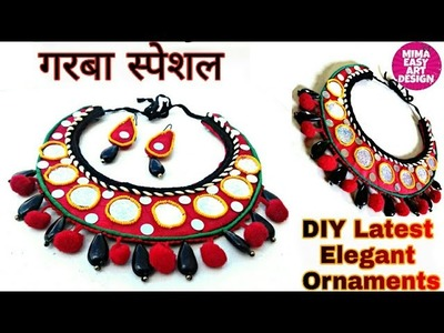 DIY Necklace How to make Navratri Jewellery.Ornaments |Navratri Garba jewellery |Girl Jewellery 2018
