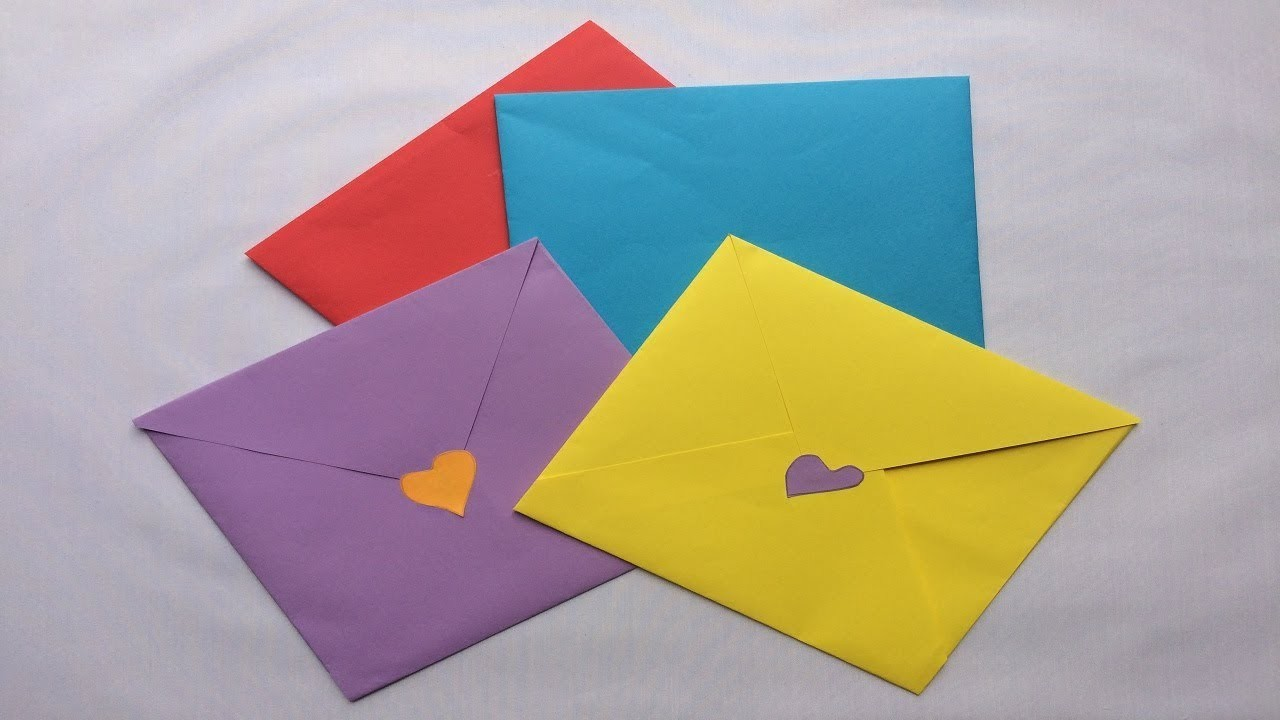 How to make a paper easy envelope | Easy Folded Paper Envelope | Origami Envelope
