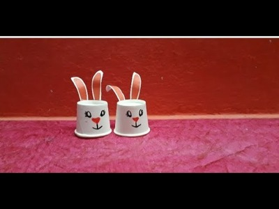 How to make bunny from glass || glass bunny in easy way || kids craft