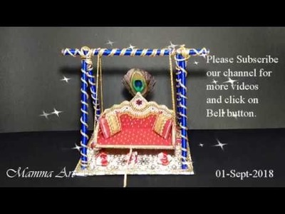How to make easy and simple Krishna Jhula for Krishna Janmashtami or home temple with west material