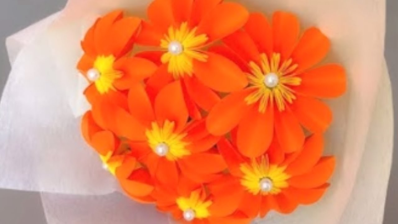 how to make simple paper flower bouquet