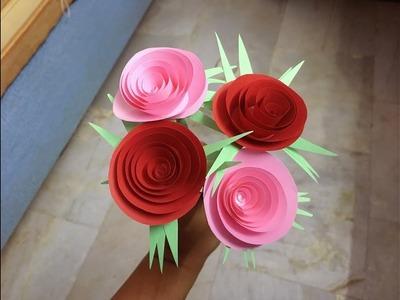 How to Make Paper Rose Flower | DIY-Paper Crafts