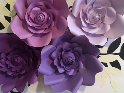 How To Make Purple Paper Flowers