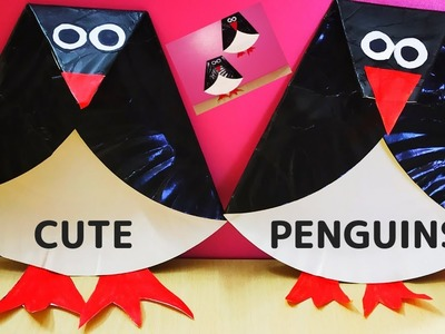 JUST 3 FOLDS TO MAKE PENGUIN || PAPER PLATE CUTE PENGUINS || HOW TO MAKE A PENGUIN