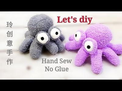 Let's Diy Octopus with glove | 手套娃娃Diy#HandyMum❤❤