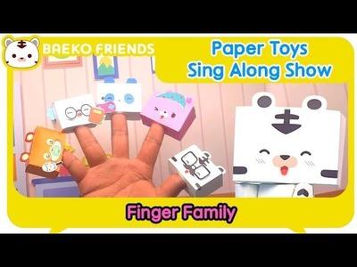 Paper Toys Sing Along Show - Finger Family l Baeko Friends l craft for kids