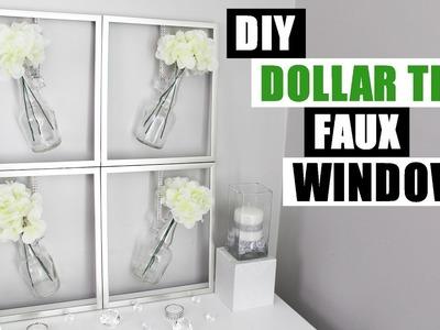 DIY FAUX WINDOW FRAME Easy Dollar Tree Spring Home Decor