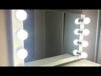 DIY HOLLYWOOD VANITY MIRROR LIGHT FOR UNDER £100