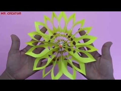 DIY: How To Make 3D Paper Snowflake With Paper and Scissors