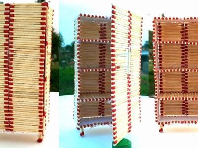 DIY Miniature Refrigerator (Made with Match Sticks!) FREEZER.ALMIRA | Matchstick Art.