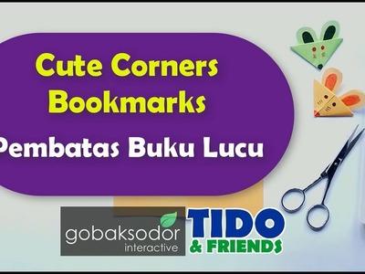 DIY Paper Crafts Cute Corners Bookmarks | Tutorial Cara Membuat Pembatas Buku Lucu