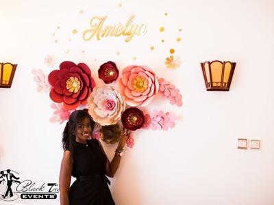 DIY - Paper flower decoration for your baby's room (easy & Elegant)