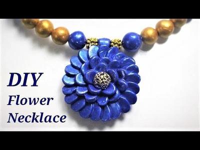 DIY Polymer Clay Flower Neckace   Jewellery Making Tutorial
