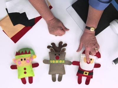DIY Santa, Elf and Reindeer Softies! | Sizzix Quilting