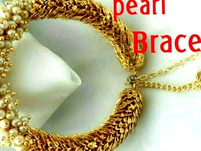 Diy simple & easy Bridal pearl bracelet || party wear bracelet || adjustable || designer bracelet||