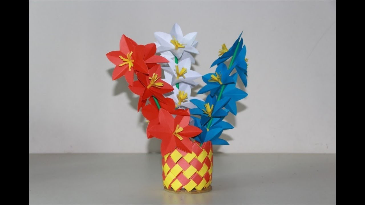 Diy Simple Home Decor Origami Paper Flower Sticks Easy And Simple