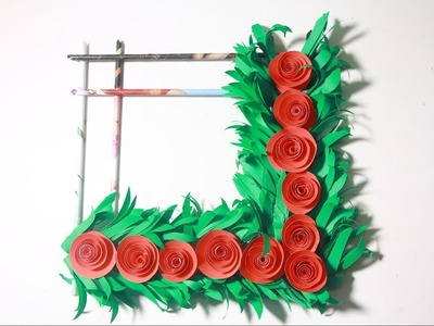 DIY. Simple Home Decor | Wall Hanging Origami Rose Flower paper Crafts