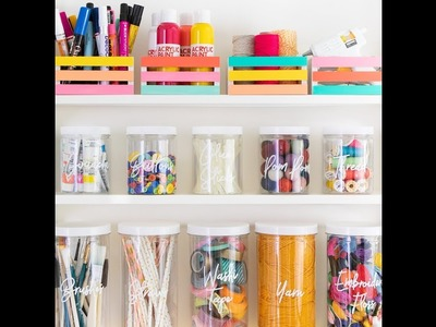 Easy DIY Colorful Home Organization Ideas