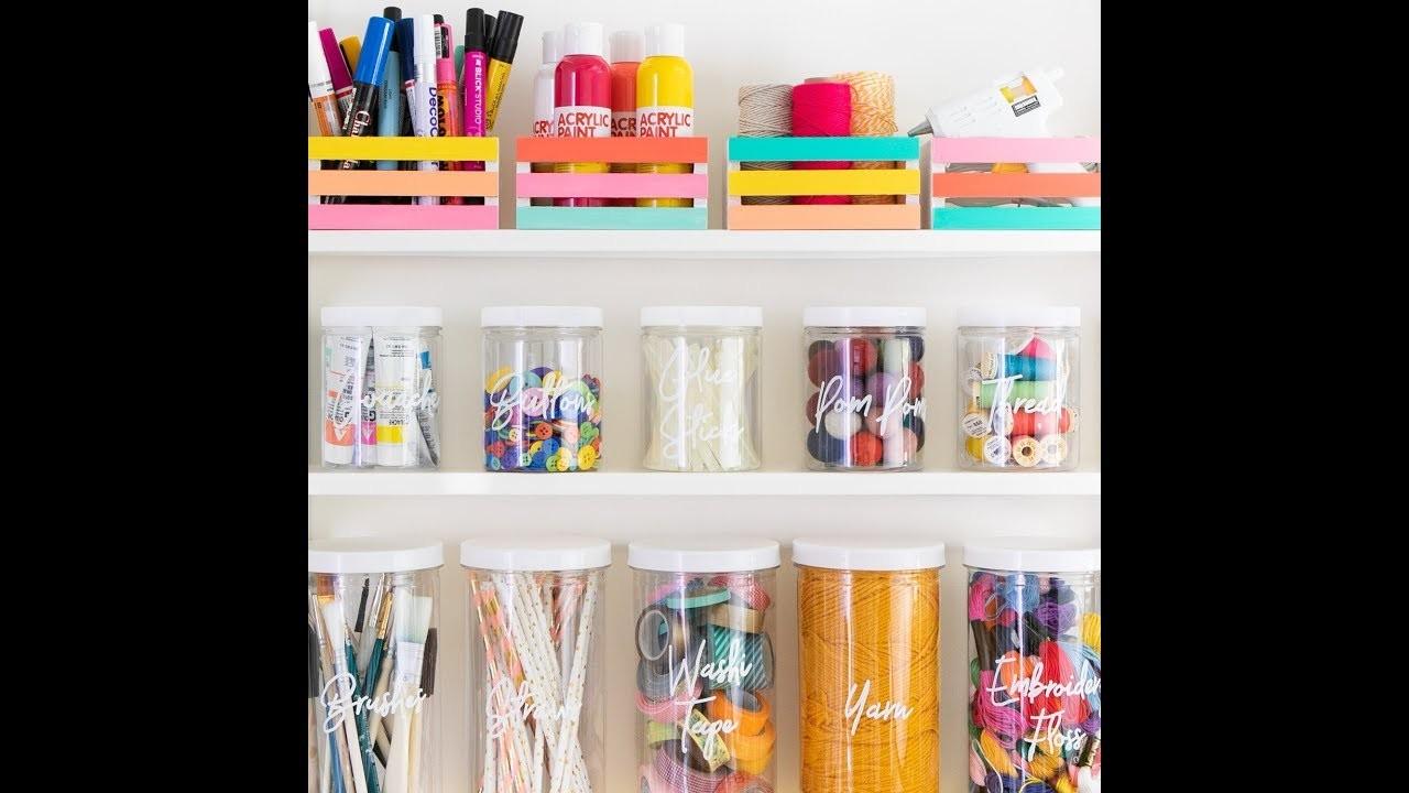 Easy DIY Colorful Home Organization Ideas