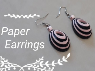 Easy Paper earring l Quilling earring  l how to make paper earring?