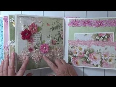 *For Sale* Stamperia Flower Alphabet Mini Album By Cheryl's Paper Creations