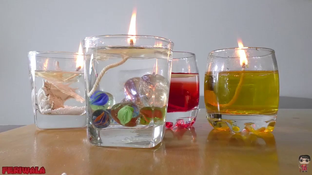 How to Make Beautiful Water Candle! DIY Ideas