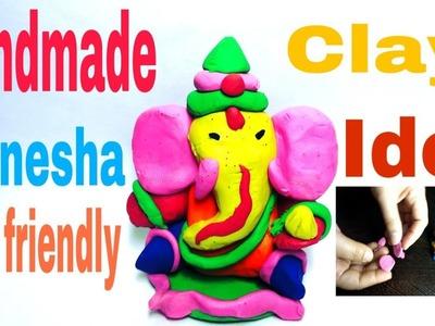 How To Make Clay Ganpati At Home.How to make colourful ganesha using clay dough. Ganesha Murti DIY