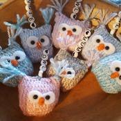 Little knitted owl keyring