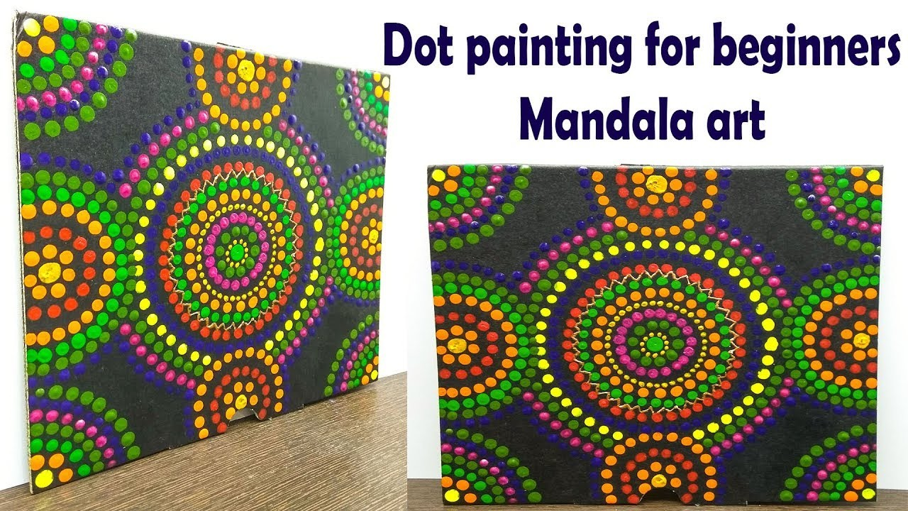 Mandala dot art painting, easy DIY, things to do when you get bored