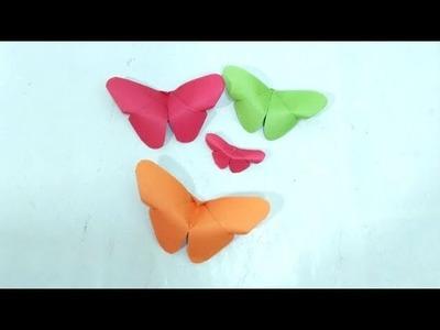 কাগজের প্রজাপতি ১.Easy Paper Butterfly Origami.DIY