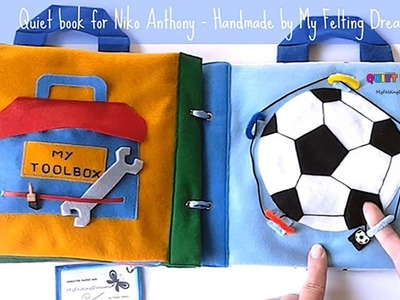 19. Quiet book for Niko Anthony - handmade by Petra Radic, My Felting Dreams