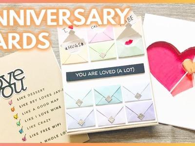 3 Fun Handmade ANNIVERSARY Card Ideas For Your Boyfriend or Husband