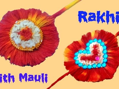 5 Easy mauli rakhi|Handmade mauli rakhi|How to make rakhi with mauli|मौली से राखी कैसे बनाये