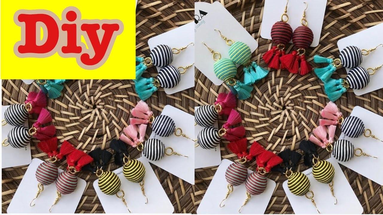 DIY Tassel Earring. How to make silk thread Tassel earrings at home. silk Thread earrings