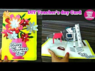 DIY Teacher's Day card.Handmade Teachers day card making idea mima easy art design