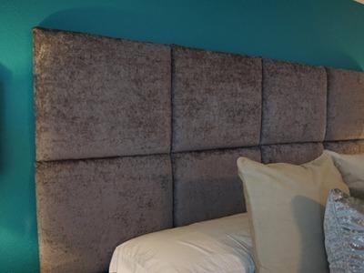DIY Upholstered Headboard | No Sew