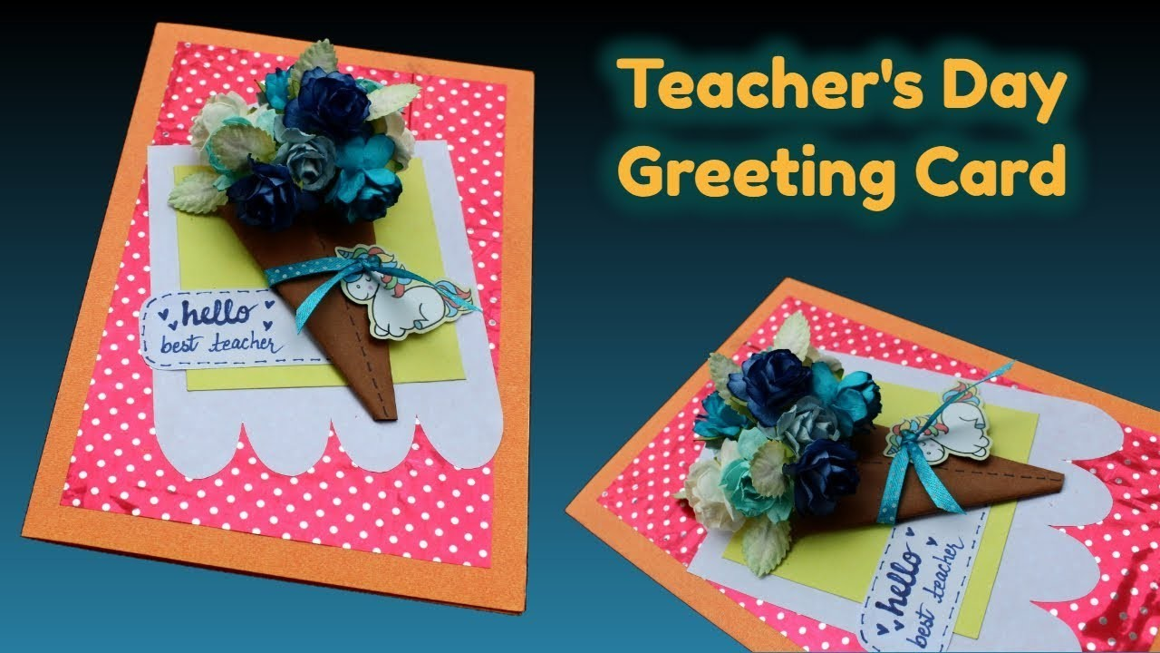 easy and quick handmade greeting card for teachers day