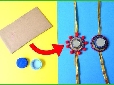 EASY HANDMADE RAKHI using WASTE MATERIALS I Rakhi ideas for school competition