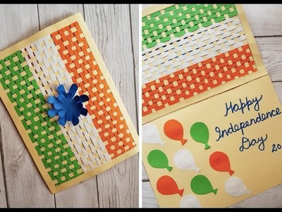 Handmade Card for Independence.Republic Day - National Flag Greeting Card Idea