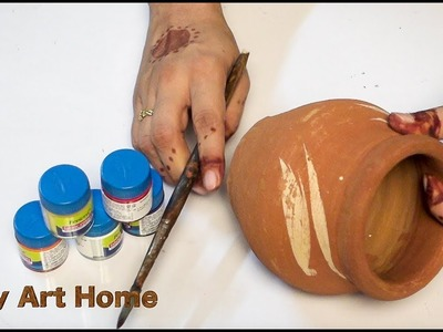How To Do Pot Painting At Home | DIY