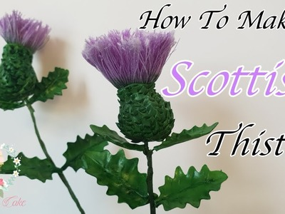 How To Make A Thistle With Sugar Paste