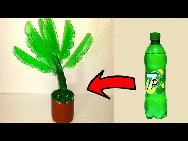 How to make Banana tree with plastic Bottle # Plastic bottle craft idea # Craft with plastic bottle