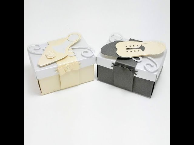How to make Bride & Groom Wedding Favor Boxes Part 1