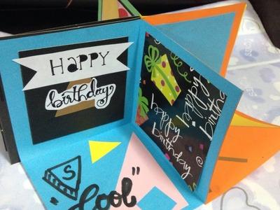 How to make Square Circular Pop Up card Tutorial |DIY|Kiran Latif